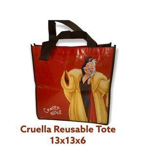 Disney Villain Cruella 13 x 13 x 6 Reusable Tote - TYN10